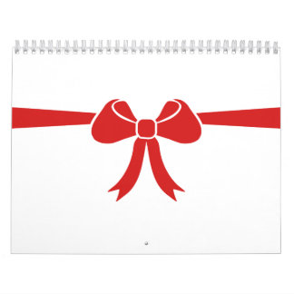 Red bow gift calendars