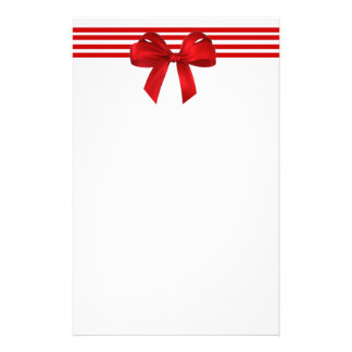 Red Bow Holiday Stationery