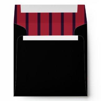 Red Bow Red Black Envelope envelope