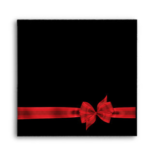 Red Bow Red Black Envelope
