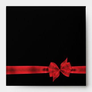 Red Bow Red Black Envelope