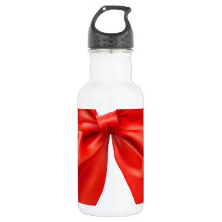Red bow tie design 18oz water bottle