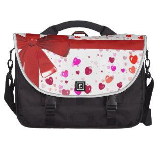 Red Bow Tie Destiny Congratulations Party Laptop Messenger Bag