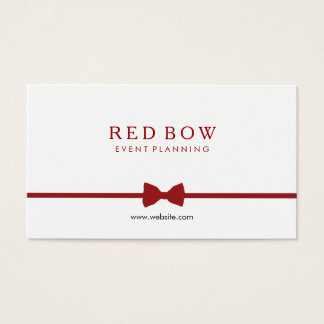 Red Bow Tie Event Planner Business Card