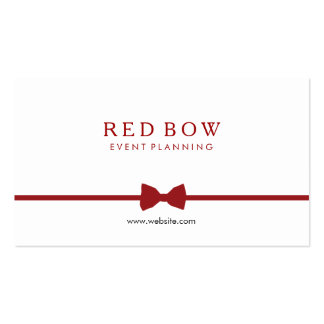 Red Bow Tie Event Planner Double-Sided Standard Business Cards (Pack Of 100)
