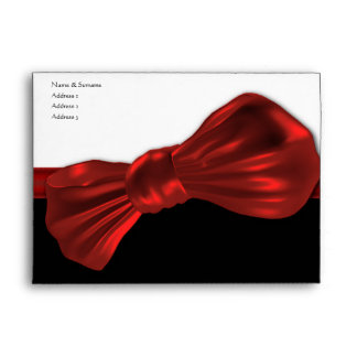 Red bow tie formal party envelope