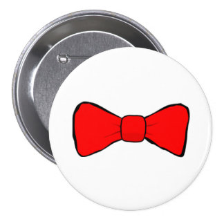 Red Bow Tie Pinback Button
