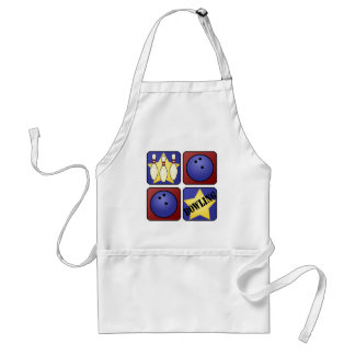 Red Bowling Adult Apron
