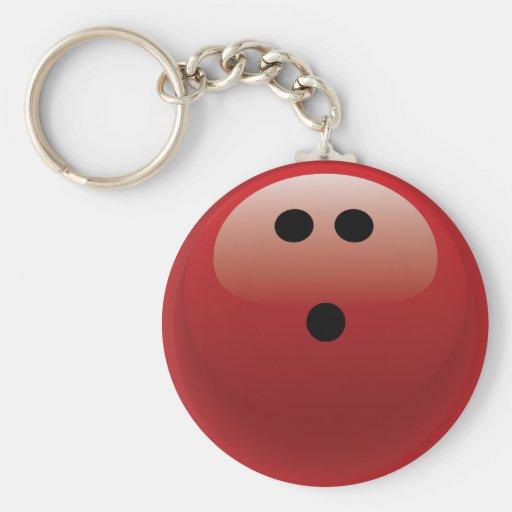 RED BOWLING BALL KEY CHAINS