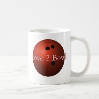 Red Bowling Ball Classic White Coffee Mug