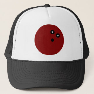 Red Bowling ball Trucker Hat
