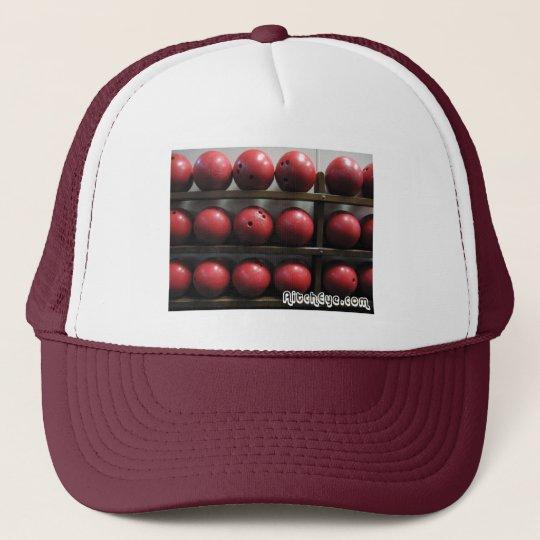 Red Bowling Balls Trucker Hat