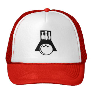 Red Bowling Trucker Hat