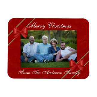 Red Bows and Ribbon Photo Magnet