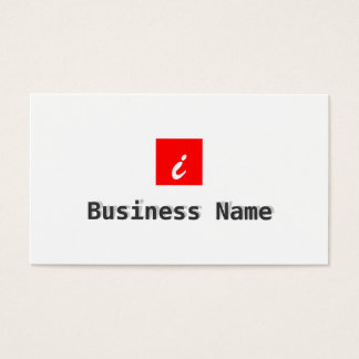 Red Box Aerospace Engineer Business Card
