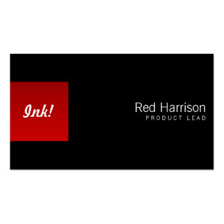 Red Box Left One Business Cards