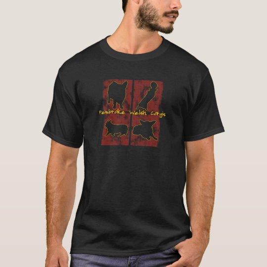Red Boxes Corgi T-Shirt