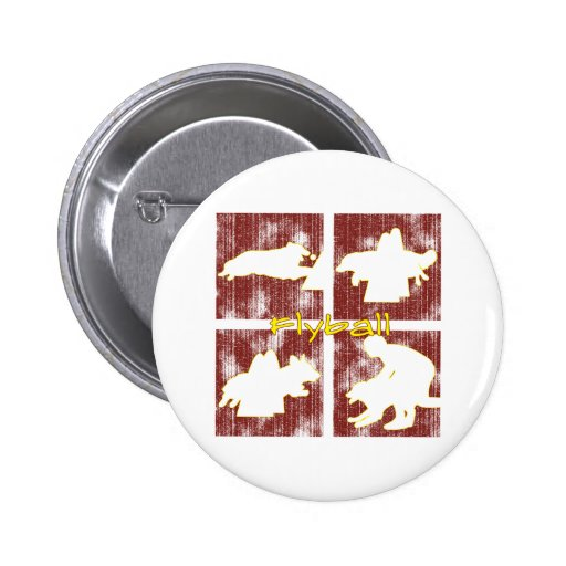 Red Boxes Flyball 2 Inch Round Button