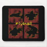 Red Boxes Flyball Mouse Pad