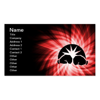 Red Boxing Double-Sided Standard Business Cards (Pack Of 100)