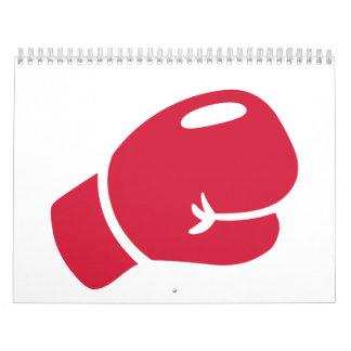 Red boxing glove calendar