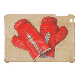 Red boxing gloves fighter ipad mini case