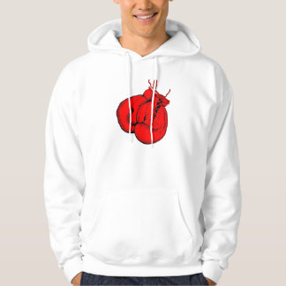 Red Boxing Gloves Hoodie