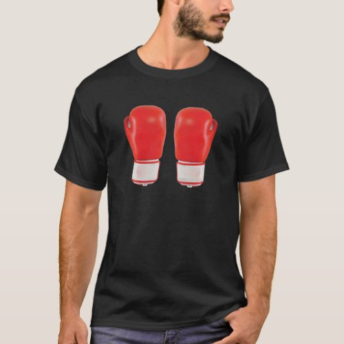 Red Boxing Gloves T_Shirt