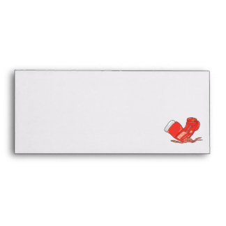 red boxing gloves vector envelope