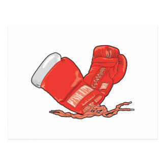 red boxing gloves vector postcard