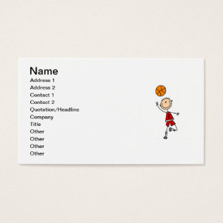 Red Boy Basketball Player t-shirts and Gifts Business Card