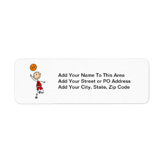 Red Boy Basketball Player t-shirts and Gifts Return Address Label