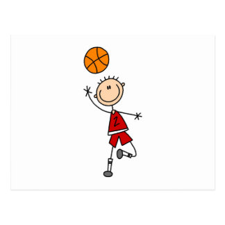 Red Boy Basketball Player t-shirts and Gifts Postcard
