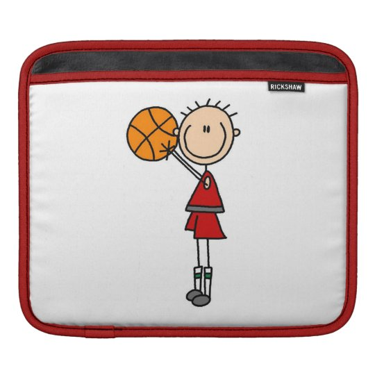 Red Boy Basketball Player t-shirts and Gifts Sleeve For iPads