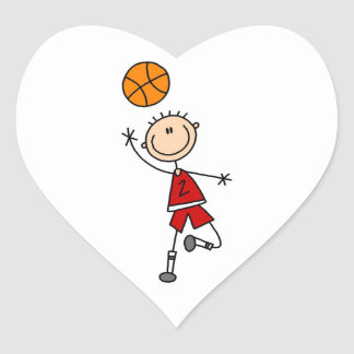 Red Boy Basketball Player t-shirts and Gifts Stickers