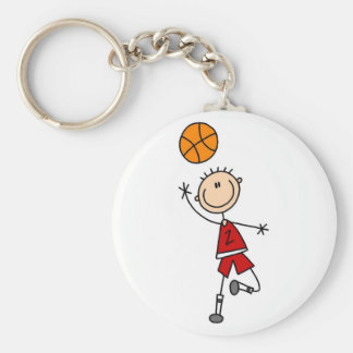 Red Boys Basketball T-shirts and Gifts Keychain