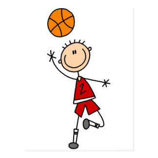 Red Boys Basketball T-shirts and Gifts Postcard