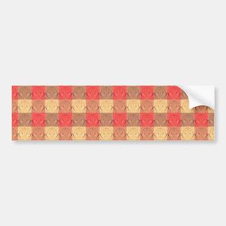 Red Brawn Vintage Grid Pattern Bumper Sticker