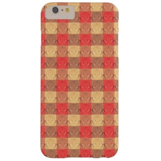 Red Brawn Vintage Grid Pattern Barely There iPhone 6 Plus Case