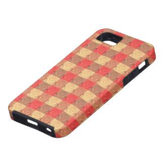 Red Brawn Vintage Grid Pattern iPhone 5 Cover