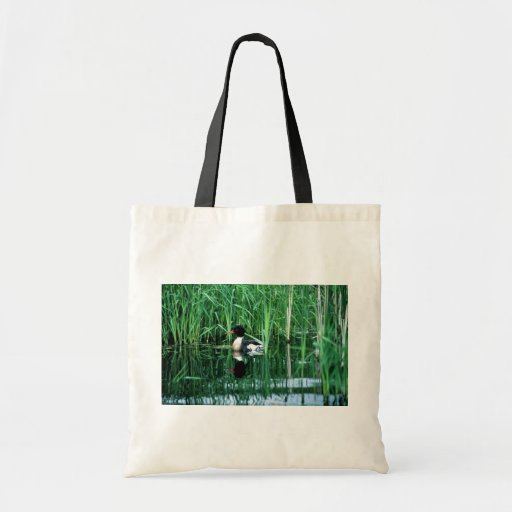 Red- breasted merganser budget tote bag
