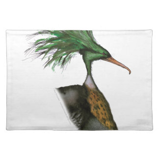 red breasted merganser, tony fernandes cloth placemat