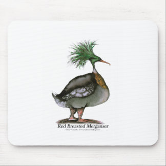 Red Breasted Merganser, tony fernandes Mouse Pad