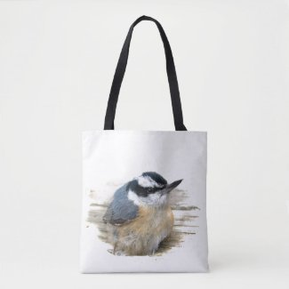 Red Breasted Nuthatch Bird Animal Tote Bag