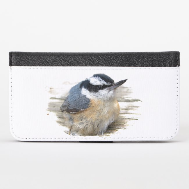 Red-breasted Nuthatch Bird iPhone X Wallet Case