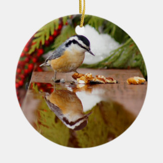 Red-breasted Nuthatch Ceramic Ornament