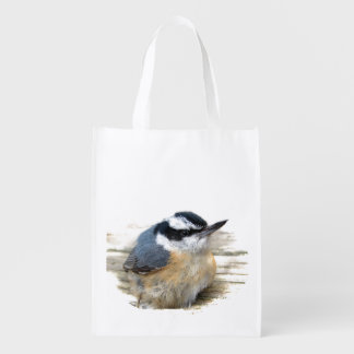 Red-breasted Nuthatch Grocery Bag