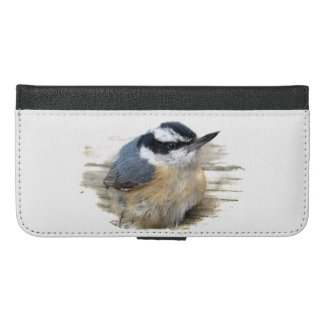 Red-breasted Nuthatch iPhone 6 Plus Wallet Case
