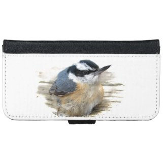 Red-breasted Nuthatch iPhone 6 Wallet Case