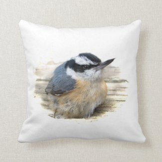 Red Breasted Nuthatch Pillow